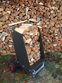 RoRoCart Kaminholzwagen für einen großen Holzvorrat